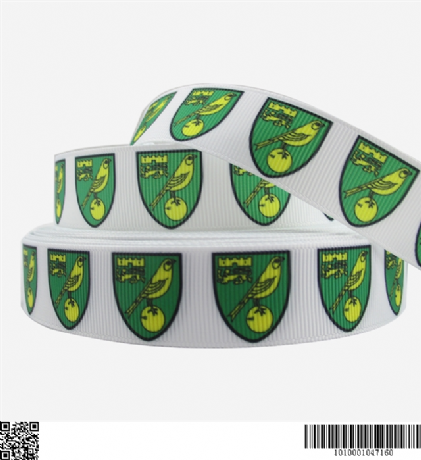 1 METRE NORWICH CITY FOOTBALL CLUB RIBBON SIZE 7/8s HEADBANDS BOWS CARD MAKING